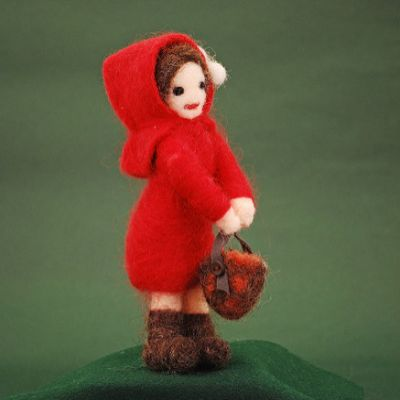Little Red Riding Hood handmade figure
