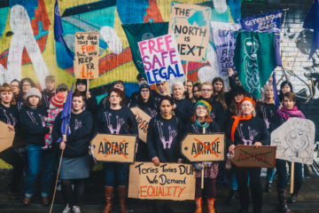 Northern Irish Alliance For Choice campaigners