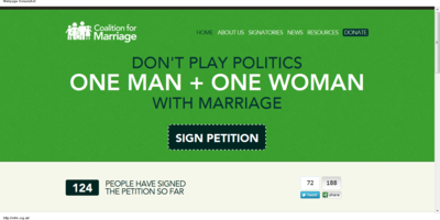 Coalition For Marriage Screenshot