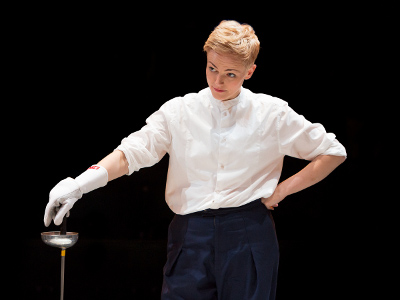 Maxine Peake as Hamlet in HAMLET (Royal Exchange Theatre until 25 October). Photo  - Jonathan Keenan.jpg