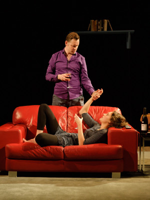 The One Soho Theatre - Rufus Wright (Harry) and Phoebe Waller-Bridge (Jo) - credit Simon  Kane.jpg