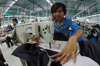 Workers with sewing machines in a Cambodian factory.jpg