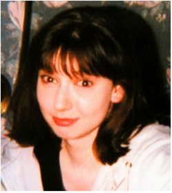 A photograph of Michaela Hague, a fair skinned woman with dark hair