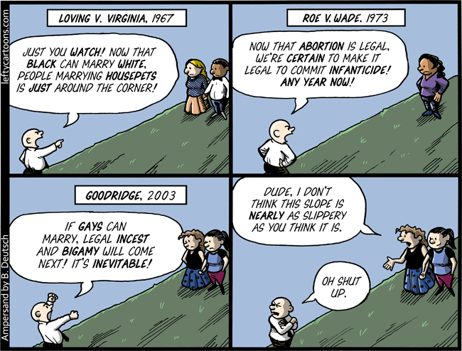 Slippery Slope Cartoon